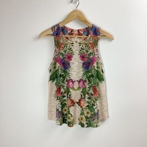 Ginger G Floral Knit Sleeveless Top Sz Small